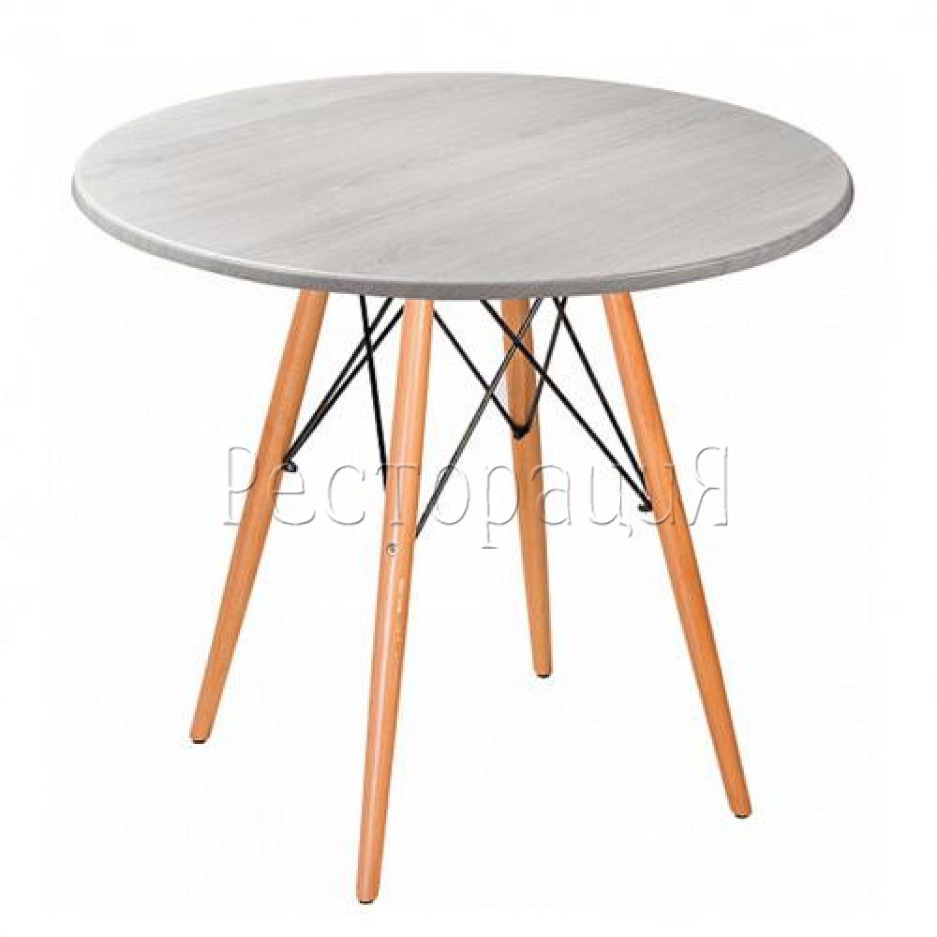 Стол Eames woodR beech light 80 см